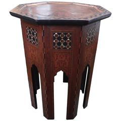 Early 20th Century Moroccan Octagon Side Table