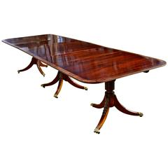 American Late 19th Century Triple Pedestal Dining Table