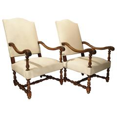 Pair of 19th Century French Walnut Armchairs