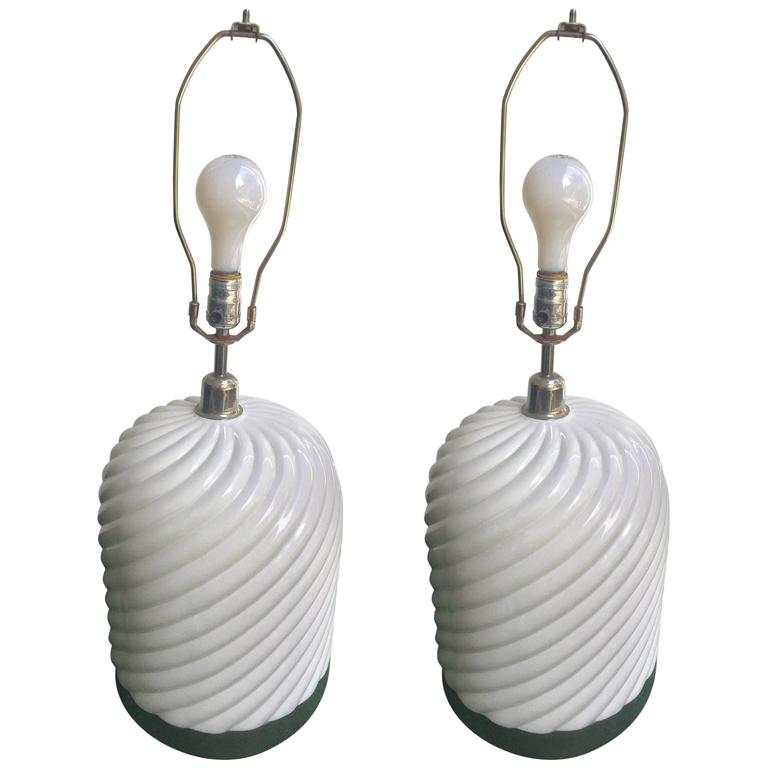 Pair of Tommaso Barbi Lamps For Sale