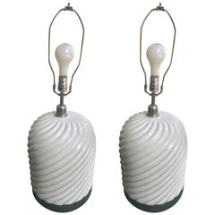 Pair of Tommaso Barbi Lamps