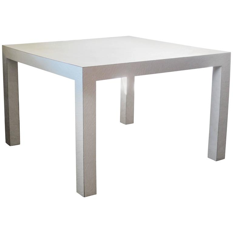 Textured White Laminate Parsons Table 1