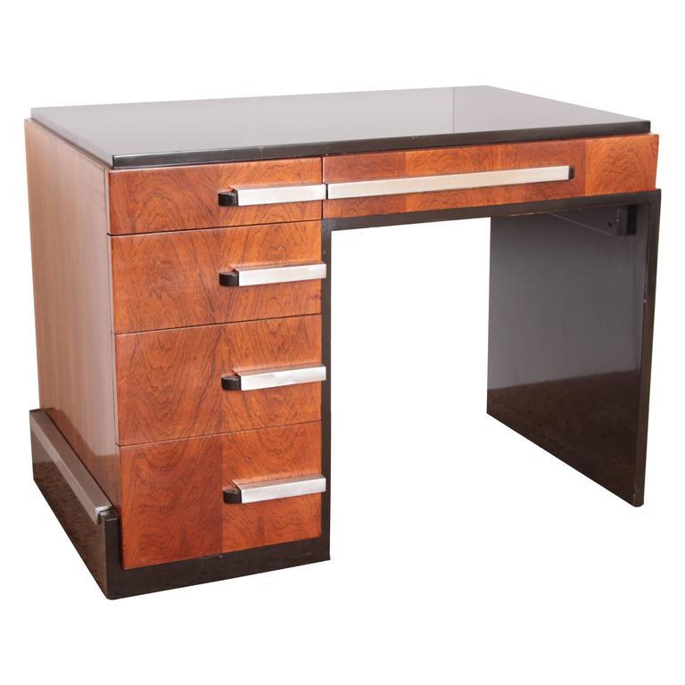 Machine Age Art Deco Donald Deskey for Widdicomb Asymmetric Desk