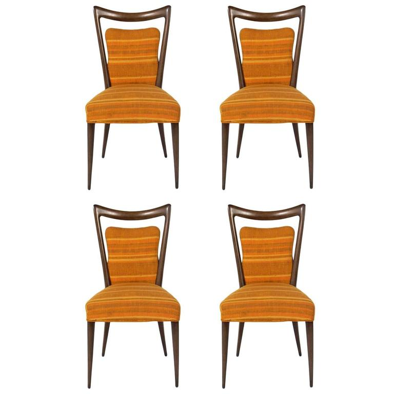 Set of Four Italian Dining Chairs by Melchiorre Bega