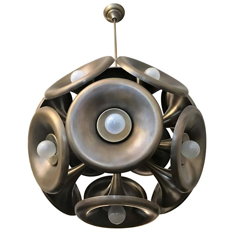 Italian 1960s Esperia Dandelion Sputnik Pendant 1