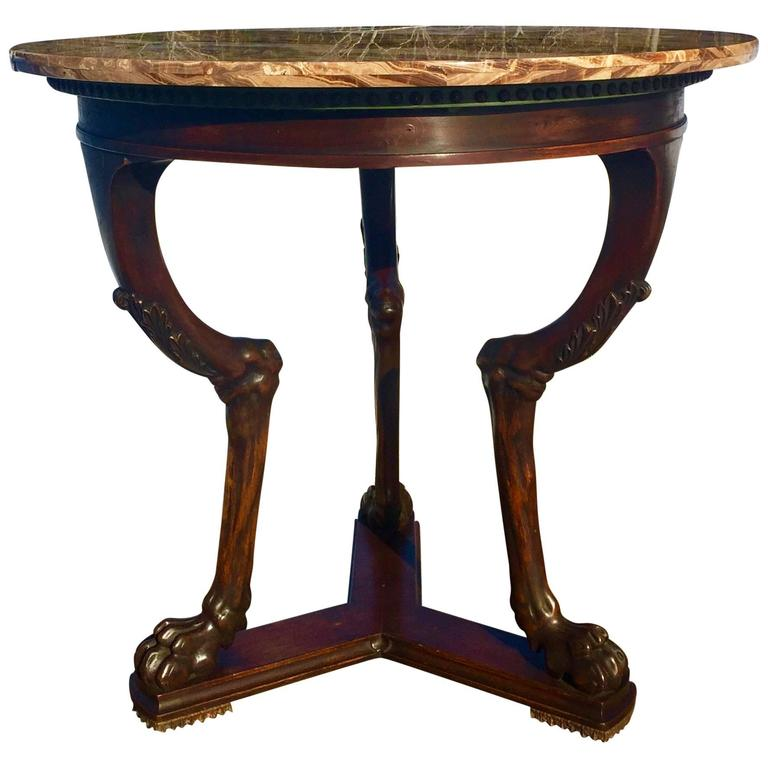 Neoclassical  Neoclasical Side Table For Sale