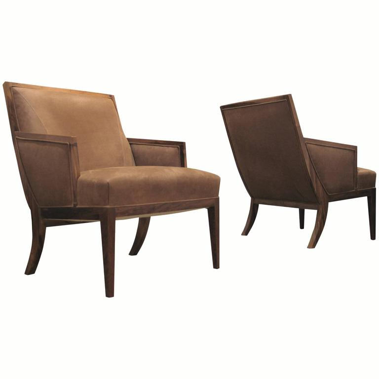 Belgrano Rosewood and Leather Lounge Chair from Costantini, Custom