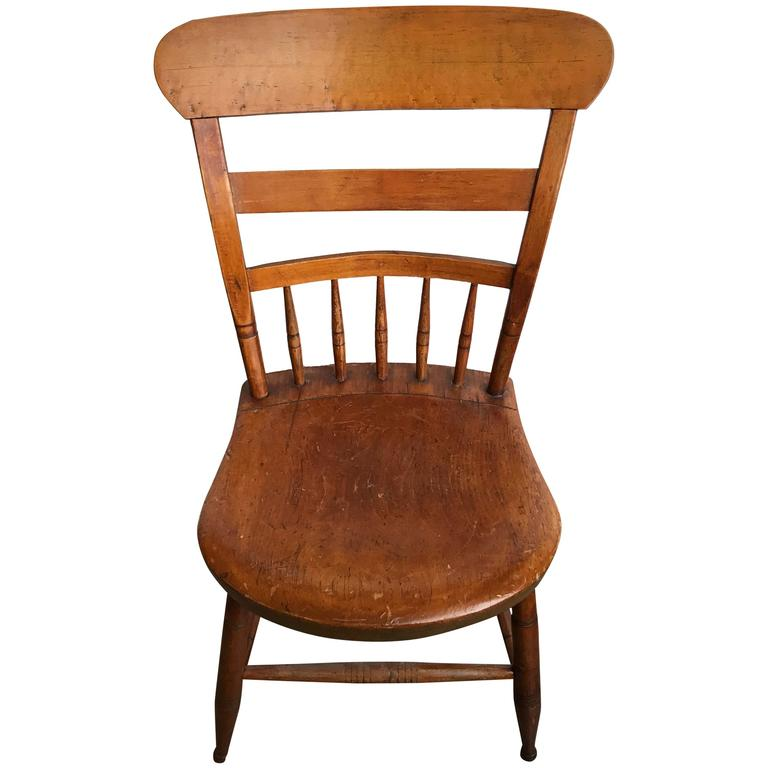 19th Century American Maple Side Chair