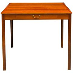 Ole Wanscher's Elegant and Refined Brazilian Rosewood Games Table with Drawer