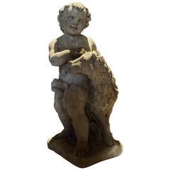 Stone Garden Statue Cherub