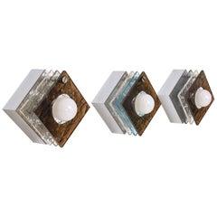 Italian Wall Sconces with Plexiglass