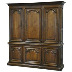 19th Century French Louis XIII Style Armoire Deux Corps