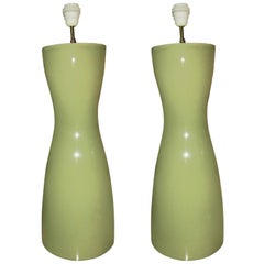 Pair of Celadon FdC France Lamps