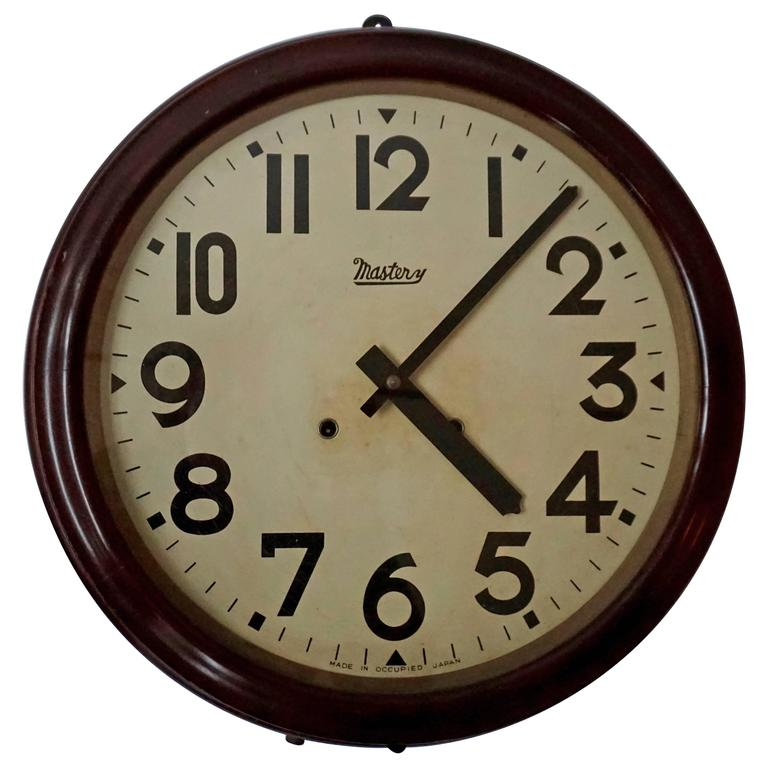 Japanese Wall Clock For Sale At 1stdibs