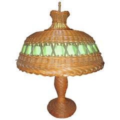 Early Natural Wicker Table Lamp