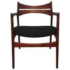 Danish Mid-Century Armchair in Teak by Erik Buch