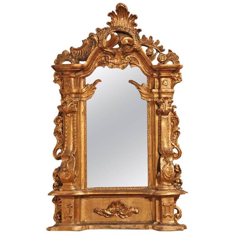 19th Century Italian Giltwood Mirror 1