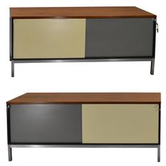 Stunning Pair of Mid-Century Retro Office Cabinets by Art Metal for Knoll Int.