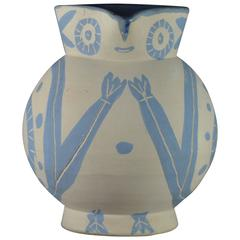 Rare Pablo Picasso Madoura Ceramic Pitcher Little Wood-Owl, 1949
