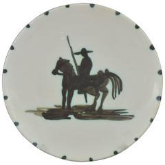 Pablo Picasso Madoura Ceramic Picador Plate, 1948