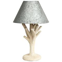 John Dickinson Plaster Twig Lamp