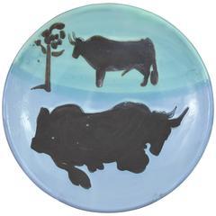 Pablo Picasso Madoura Ceramic Plate Toros, 1952