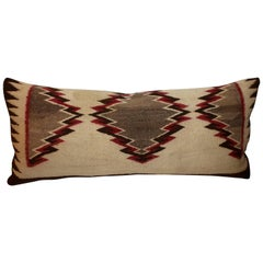 Early Navajo Indian Weaving Eye Dazzler Pillow