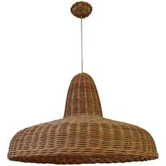 Rattan chandeliers and pendants 13 for sale at 1stdibs rattan pendant light aloadofball Images