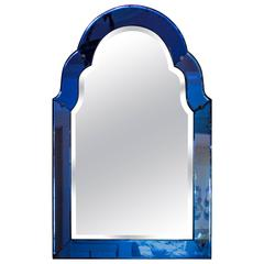 Venetian Mirror with Sapphire Blue Frame