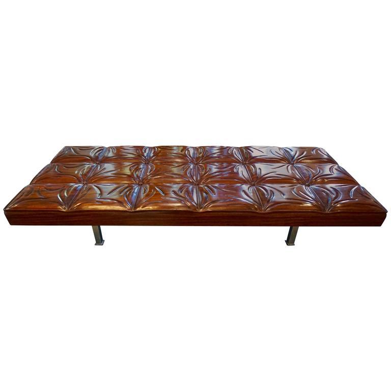 Unique Handcrafted Mahogany Bench