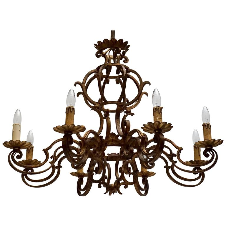 Gilt Metal Chandelier