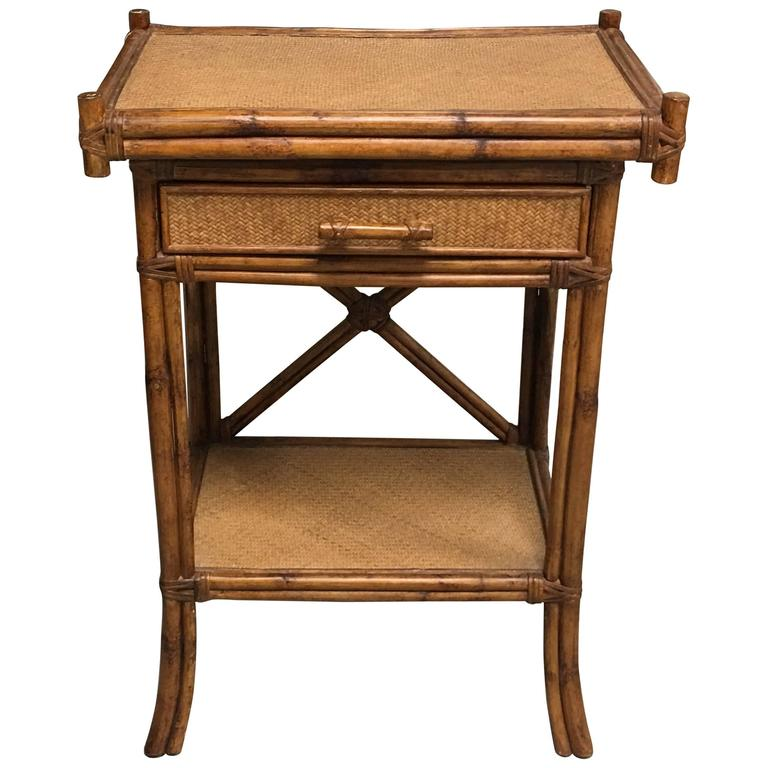 1920s bamboo and rattan side table for sale at 1stdibs for Bamboo side table