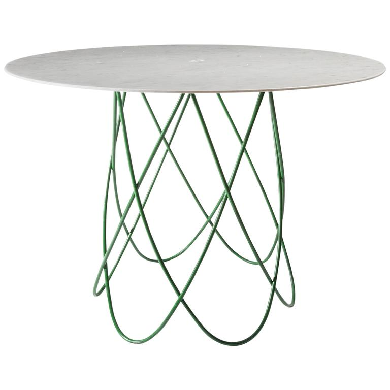 Feather Dining Table, Contemporary Carved Marble Table