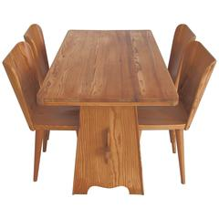 Goran Malmvall Dining Table and Four Chairs by Karl Andersson & Soner