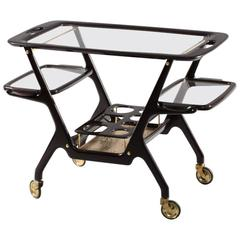 Italian Bar Cart Designed by Cesare Lacca, Italy, 1950