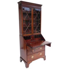 18th Century Mahogany Secretary Bookcase of Small Proportions
