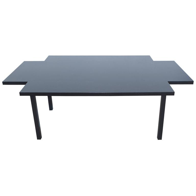 Grid Form Dining Table Attributed to Ward Bennett for Brickel Associates