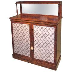 Antique Regency Period Rosewood Two-Door Chiffonier