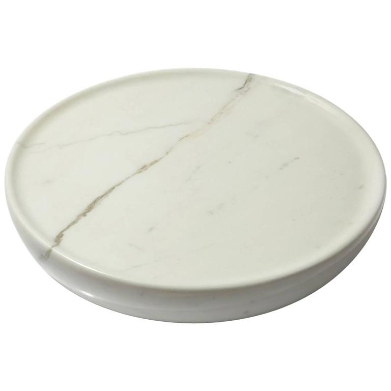 Full Bowl, Contemporary Marble Hand-Carved Bowl