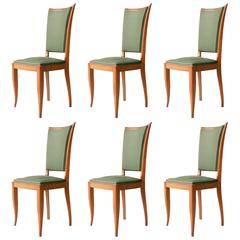 Set of Six French Chairs. France, 1940.