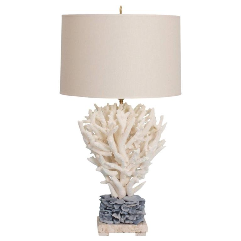 Chic staghorn and blue coral table lamp for sale at 1stdibs chic staghorn and blue coral table lamp for sale aloadofball Images