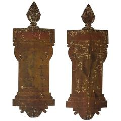 Pair of Iron 18th Century Italian Tole Appliques
