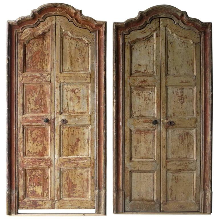 Two Pair of 18th Century Spanish Doors with Frames For Sale & Two Pair of 18th Century Spanish Doors with Frames For Sale at 1stdibs