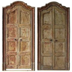 Two Pair of 18th Century Spanish Doors with Frames