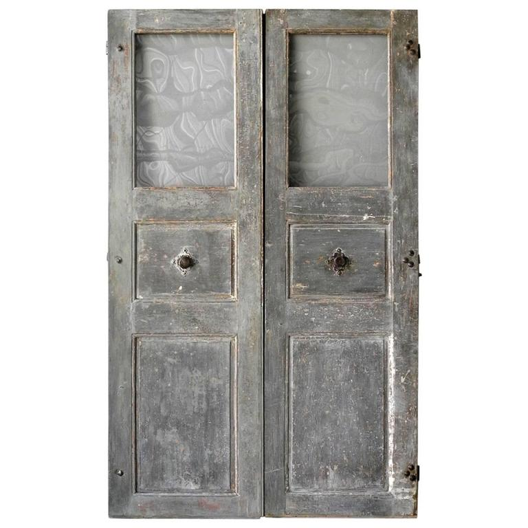 Pair of 18th Century Communication Doors from a Maison de Maitre in Uzes, France 1