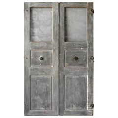 Pair of 18th Century Communication Doors from a Maison de Maitre in Uzes, France