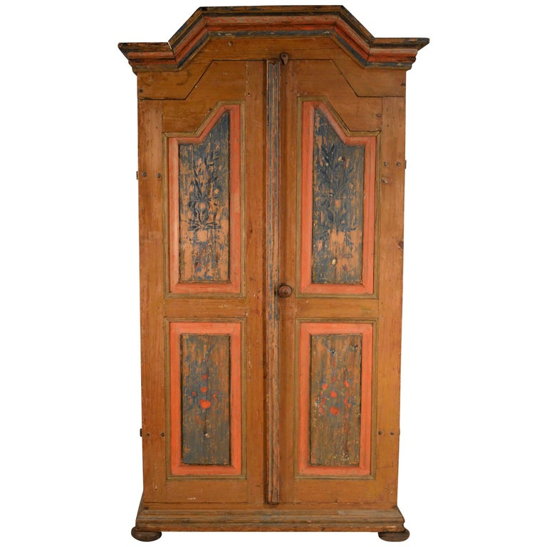 19th Century Swedish Painted Wedding Cabinet