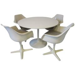 Tulip Dining Table Set by Maurice Burke in the Style of Saarinen and Knoll