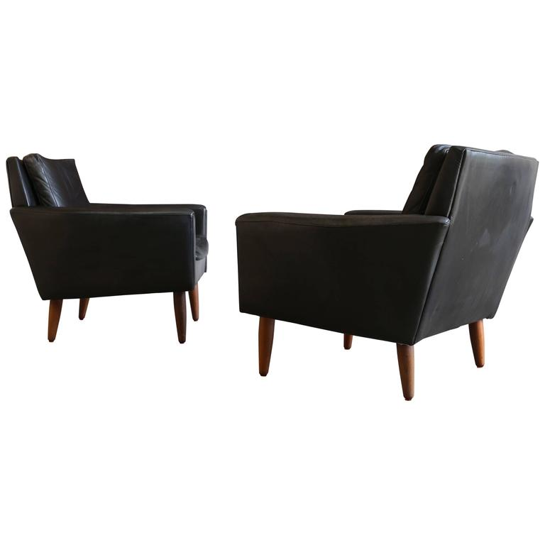 Pair of Lounge Chairs by Georg Thams for Vejen Polstermøbelf