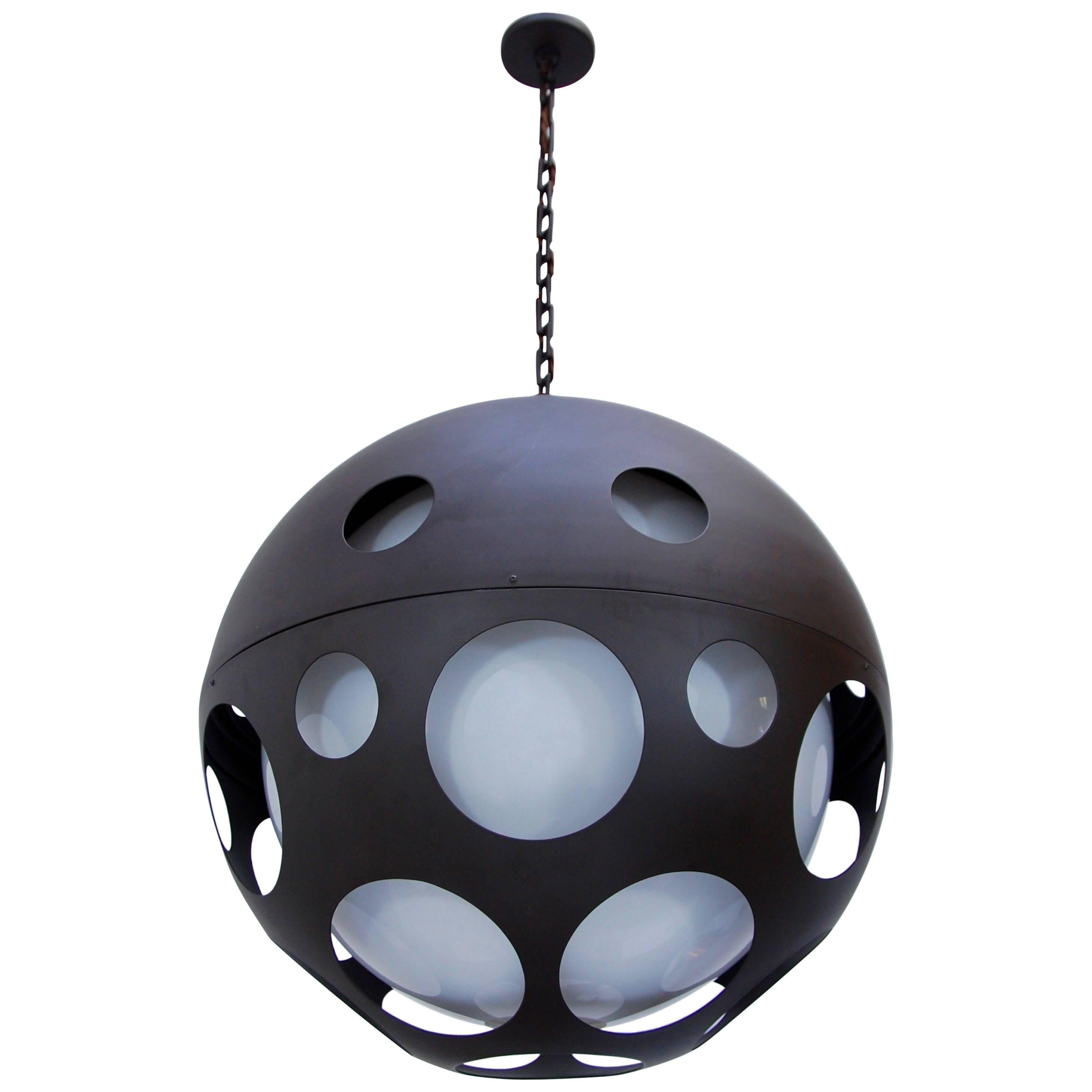 Large Perforated Globe Pendant
